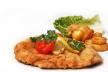 Krokante kalkoenschnitzel met broccoli en amandelen recept