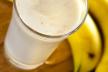 Amandel bananen milkshake recept
