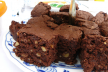 Frambozen-brownies met noten recept