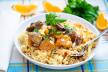 Couscous met aubergine en zoete aardappel recept