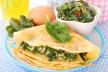 Pannenkoekentaart met spinazie en tomatensaus recept