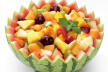 Fruitsalade met gemberroom recept