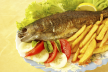 Forel met pestosaus en spek (BBQ) recept