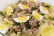 Frisse salade met verse tonijn recept