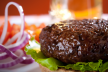 Sateh burgers recept