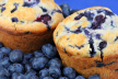 Muffins met blauwe bessen en slagroom recept