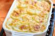 Knolselderij-aardappelschotel met gorgonzolasaus recept