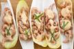 Witlofschuitje met garnalensalade recept