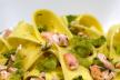 Tagliatelle met zalm en spinazie recept