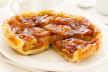 Tarte tatin met bacon en geitenkaas met aardappelschil recept