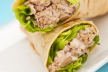 Wrap met tonijn of kip recept