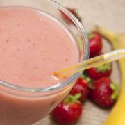 Aardbeien-banaan smoothie