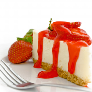 Cheesecake met gemarineerde aardbeien recept