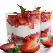 dessert aardbeien mascarpone
