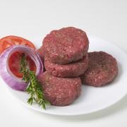 Broodje hamburger met champignons