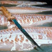 Vis uit de oven met wortel, prei en pesto rosso