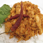 Vlees of vis in Hindoestaanse masala recept