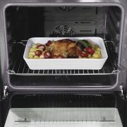 Nijlbaars met kaas en kruidenkorst uit de oven