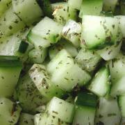 Zoet zure komkommer