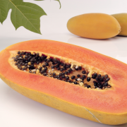 Pittig lamsvlees met papaya
