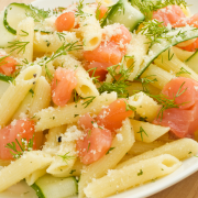 Penne met zalm en broccoli recept
