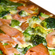 Zalm broccoli schotel (675 kcal) recept
