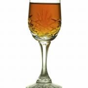 Sherry-vanille-cr�me met bitterkoekjes