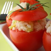 Ripieni di roso (tomaten gevuld met rijst)