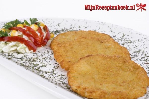 Perkedel daging kentang (aardappelkoekjes met rundergehakt)