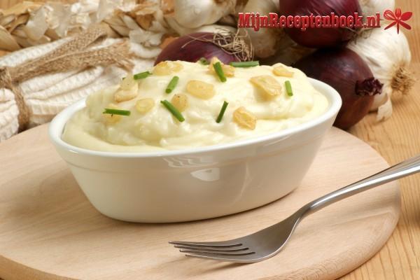 Aardappelpuree met olijfolie