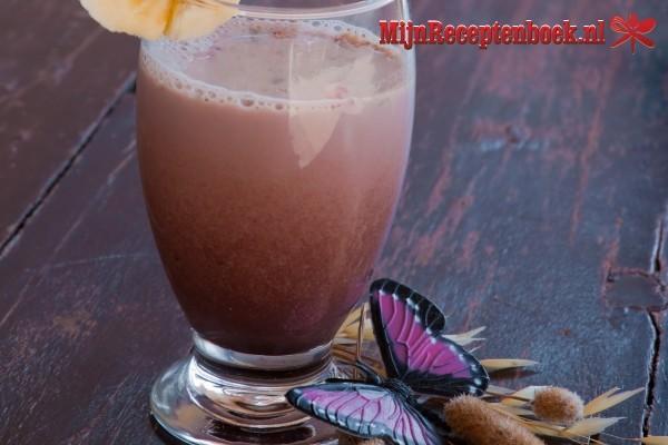 Lekker  banaan-chocolade smoothie