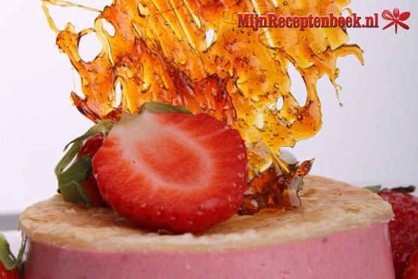 Bavarois van aardbeien