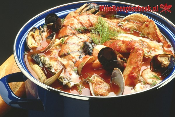 Vlaamse bouillabaisse van Noordzeevis