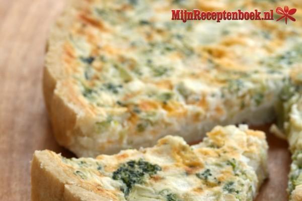 Broccoli-geitenkaas quiche