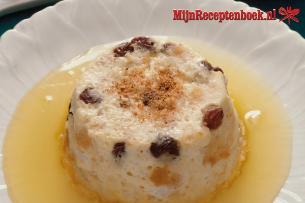 Podding-rotti Indonesische-broodpudding