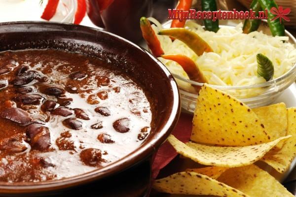 Pikante bruine bonen  soep