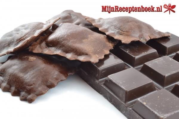 Chocolade-honingravioli