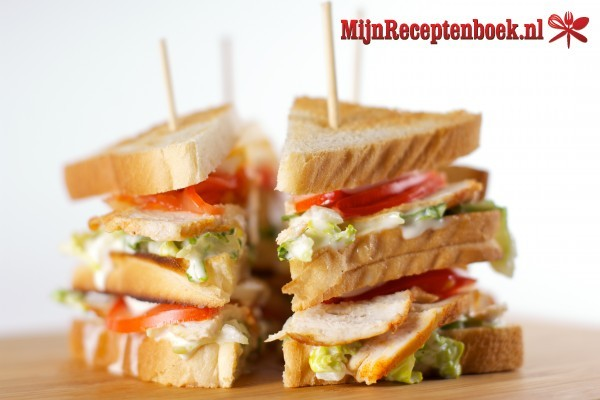 recept club sandwich kip