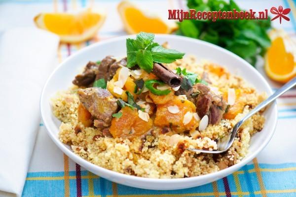 Couscous met lamsvlees en gemengde groenten