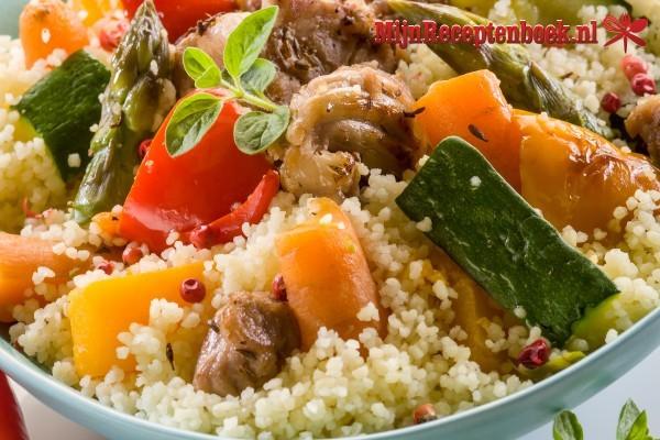 Couscous met kruidig rundvlees