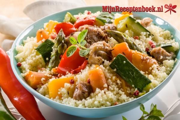 Kipshoarma met couscous