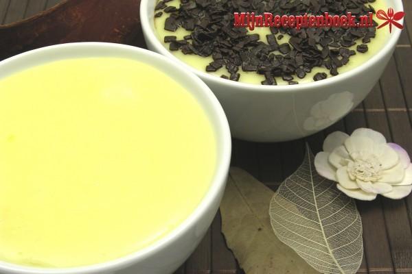 Slank custard met appelkruimel toetje