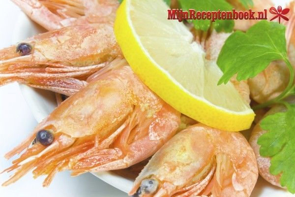 Gemarineerde gamba's in ketjap met sherry en knoflook recept