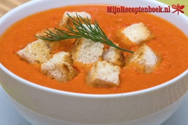 Gebonden tomaten soep