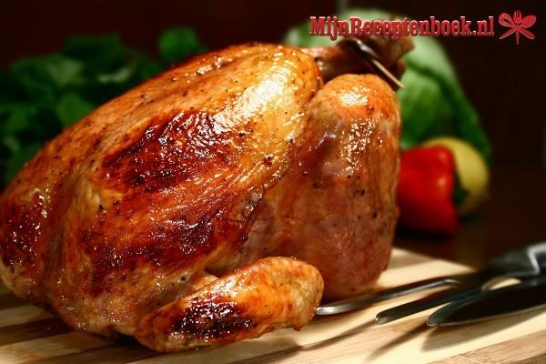 Gebraden kip met oregano, knoflook en citroen