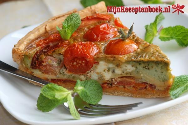 Snelle quiche met tomaat en gehakt