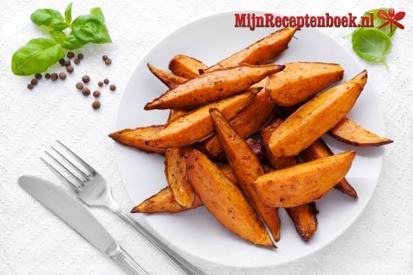 Zoete aardappelen uit de oven