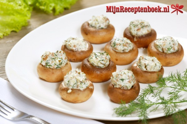 Gevulde champignons met boursin recept