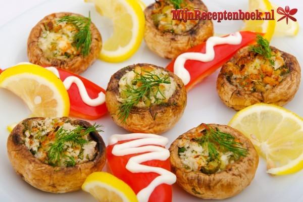 Gevulde champignons met gorgonzola