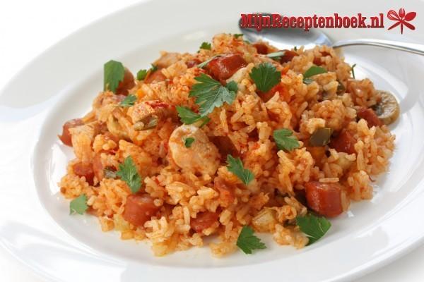 Kip paprika ragout met rijst